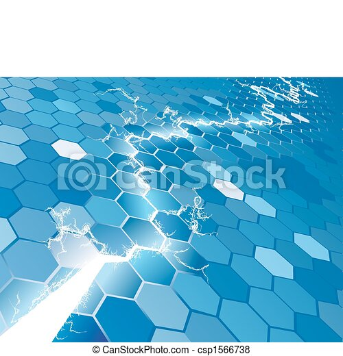 Electric Hexagon Background Concept - csp1566738