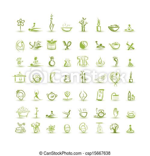 Vector van set spa iconen ontwerp jouw masseren masseren en csp15667638 zoek naar - Spa ontwerp ...