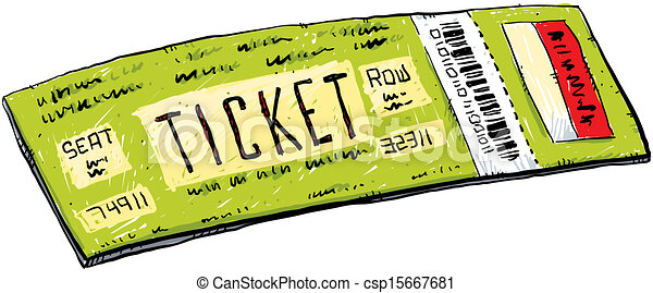 Stock Illustration of Cartoon Ticket - A cartoon ticket with barcode ...