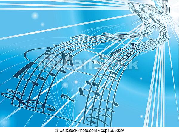 Vector Sheet music background - csp1566839
