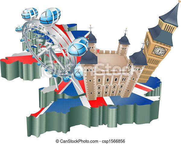 United Kingdom tourism - csp1566856