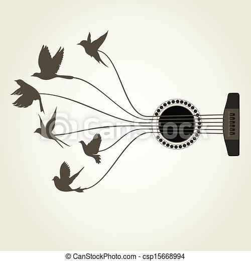 Bird a guitar - csp15668994