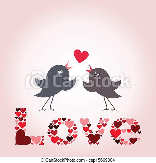 Bird of love8 - csp15669004