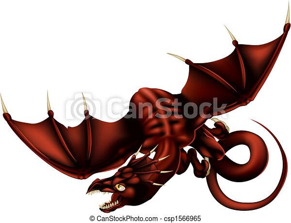 Dragon Vector Illustration - csp1566965