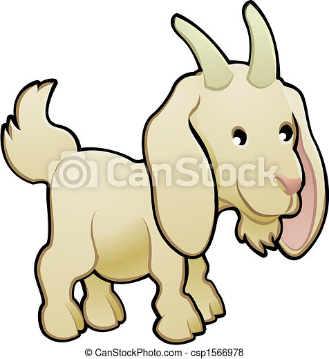Cute Goat Farm Animal Vector Illustration - csp1566978
