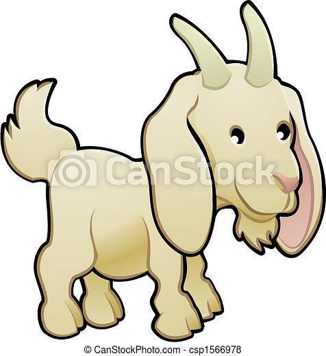 Cute Goat Farm Animal Vector Illustration - csp1566978