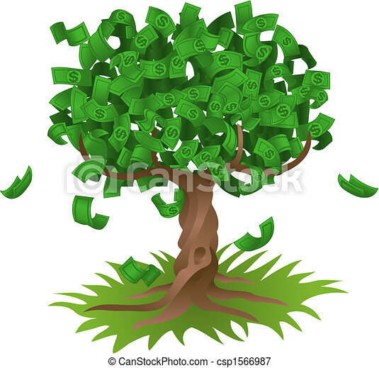 Money growing on tree - csp1566987
