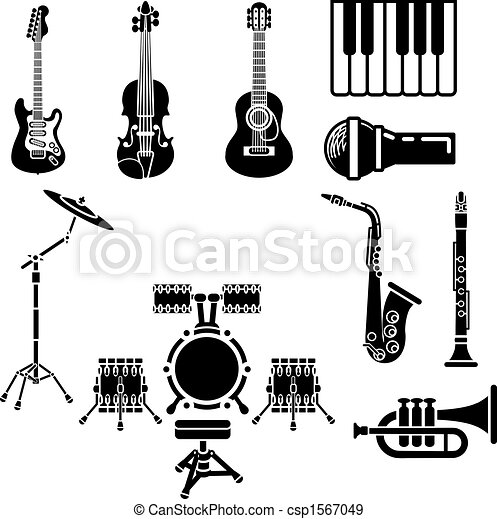 Musical Instrument Icon Set - csp1567049