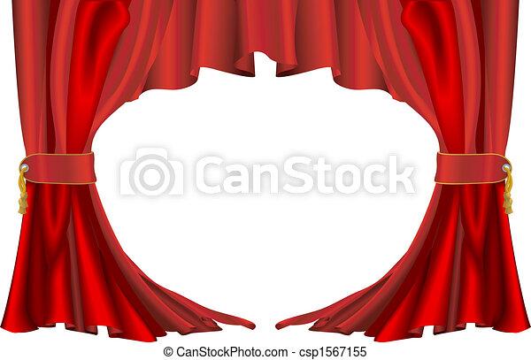 vecteur clipart de rideaux style rouges th tre une illustration de a csp1567155. Black Bedroom Furniture Sets. Home Design Ideas