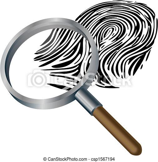 Spyglass and fingerprint - csp1567194