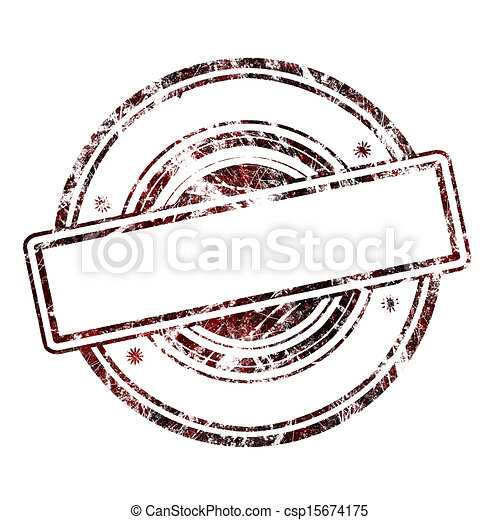 Abstract empty grunge rubber stamp  - csp15674175