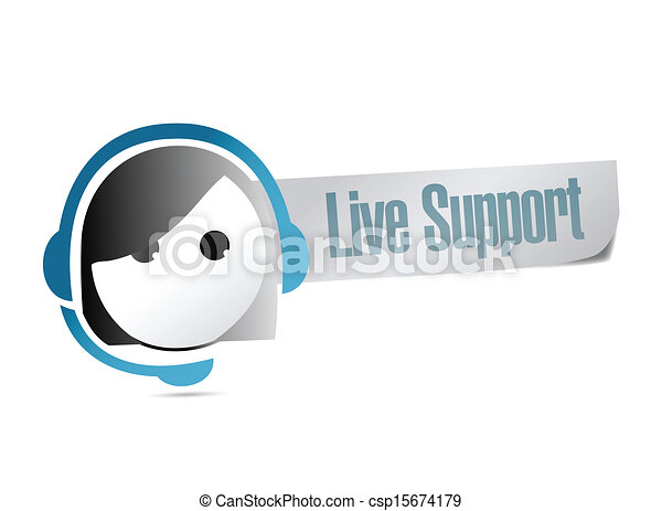 live support illustration design - csp15674179