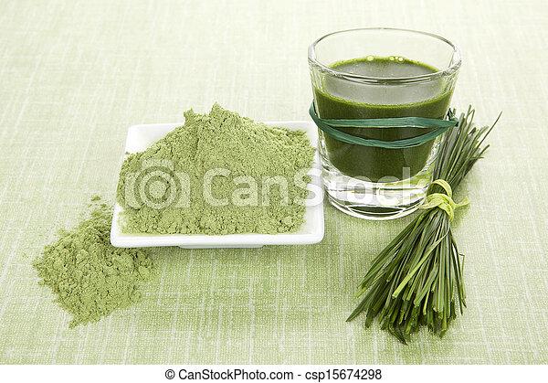Green food supplements. - csp15674298