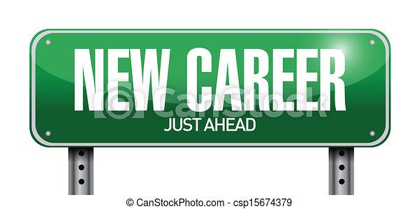 Vectors Illustration of new career road sign illustration design ...