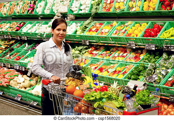 Purchases of fruit vegetables in the supermarket - csp1568020
