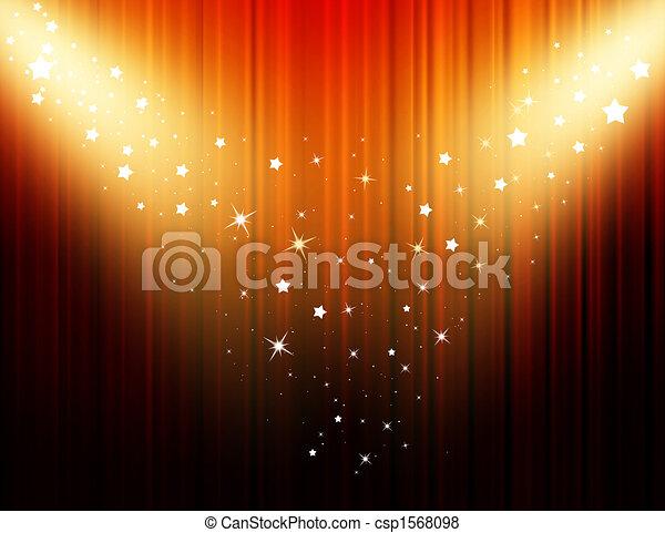 Movie curtain - csp1568098
