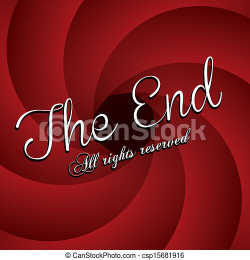 Vector Clip Art of the end label over red wine background vector ...