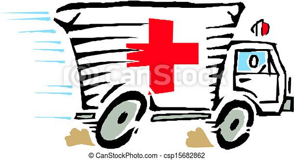 Ambulance Car Drawing Ambulance Van Car Vector
