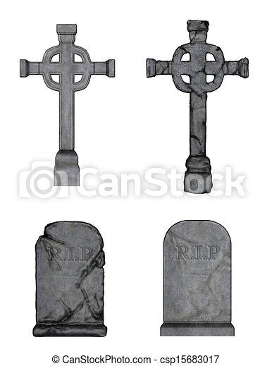 Clipart of gravestone - image of gravestone csp15683017 - Search ...