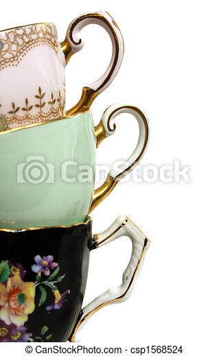 anticaglia,  teacup, Manici - csp1568524
