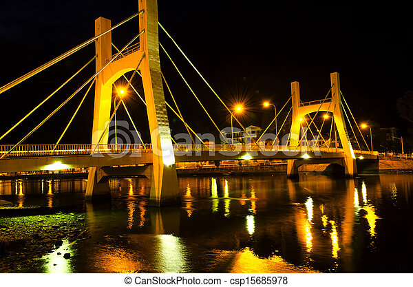 Bridges of Phan Thiet City. Low Tide. - csp15685978