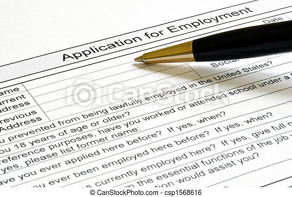 Application For Employment - csp1568616