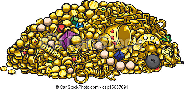 Pile of Jewelry Drawing Illustration Pile of Treasure