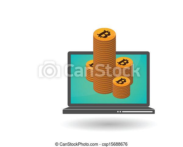 Vectors Illustration Of Open Source Money Bitcoin