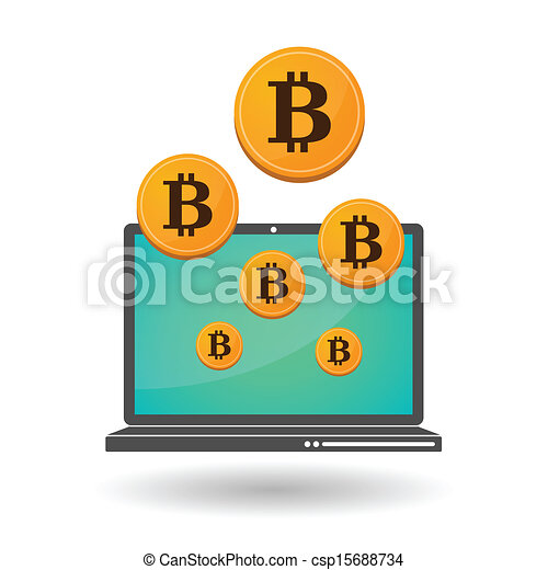 Vectors Of Open Source Money Bitcoin Illustration Of