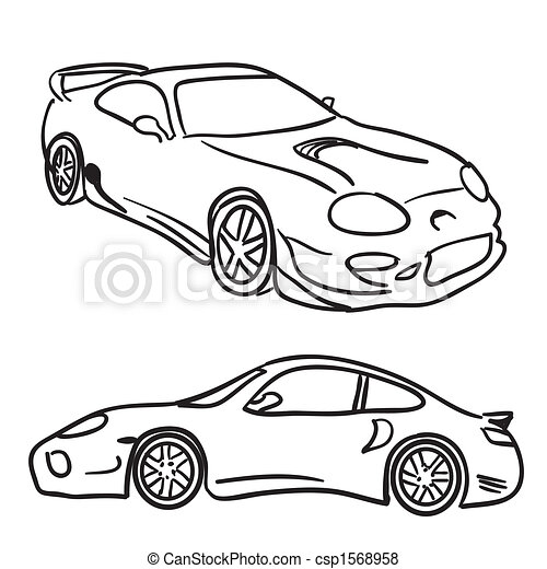 Stock Illustration Von Sport Auto Skizzen Klammer