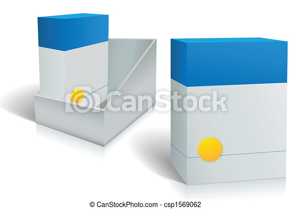 Two software product boxes in open box design - csp1569062