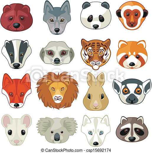 Animal Heads Set - csp15692174