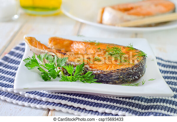 fried salmon - csp15693433