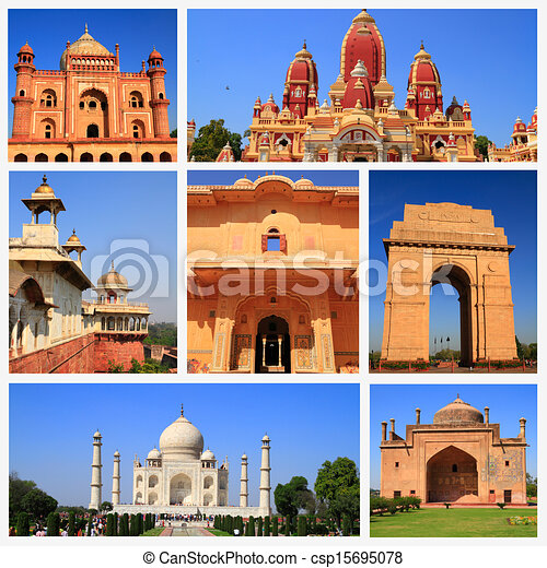 Stock Illustrations Of Impressions Of India Collage Of