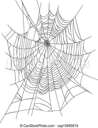 Vector Clip Art Of Spider Web