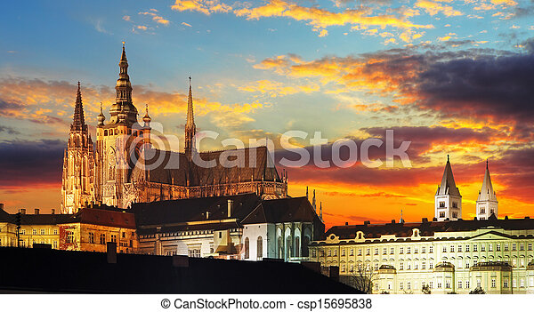 Prague Castle at sunset - Czech republic