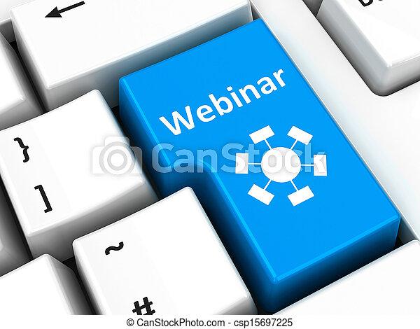Computer keyboard webinar - csp15697225