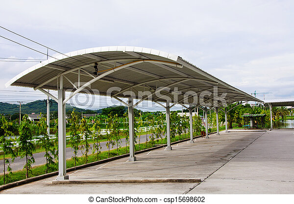 Modern carport car garage parking - csp15698602