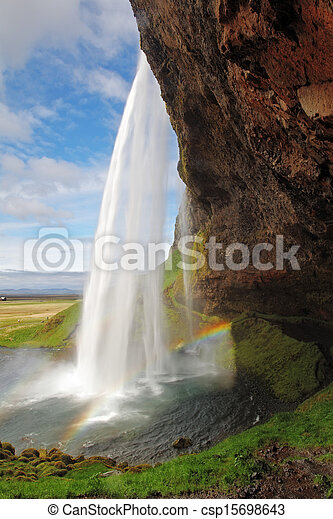 Seljalandsfoss. Beautiful waterfall in Southern Iceland. - csp15698643