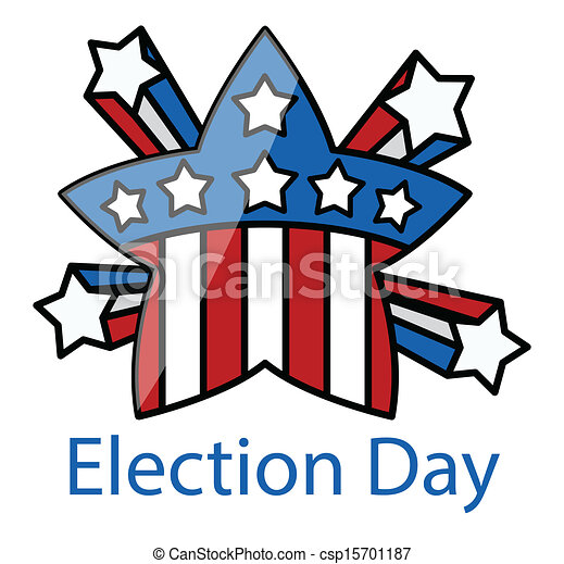 Election Day Retro Celebration Star Vector Illustration