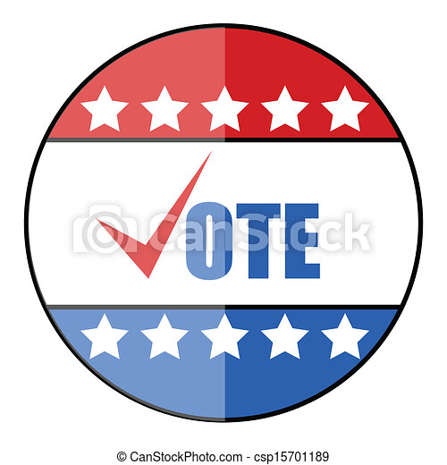 Vector of Glossy vote badge - Election Day Vector Illustration ...