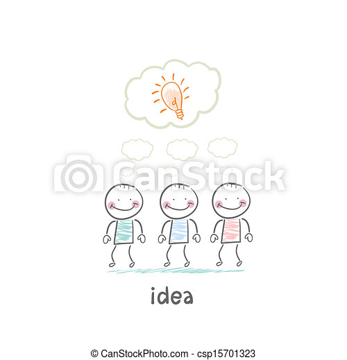 man and idea - csp15701323