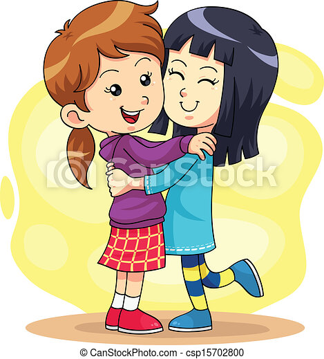 Clip Art Hugging Clipart hug clipart and stock illustrations 10458 vector eps play 2 children playing each other