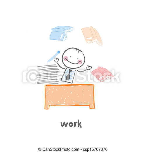 Man and Work - csp15707076