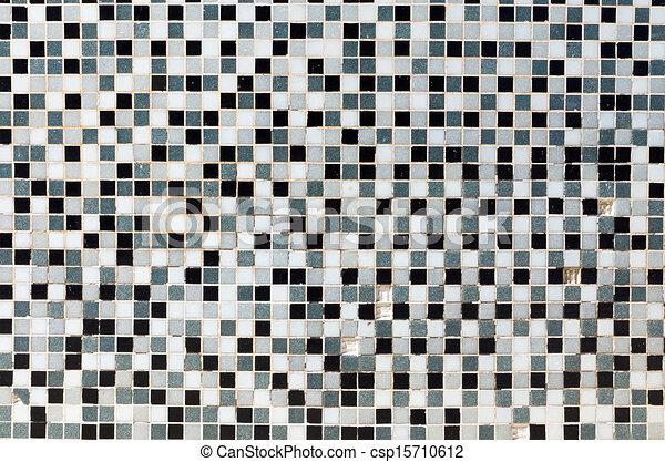 Clipart de azulejos negro gris mosaico blanco blanco Azulejos bano blanco y gris