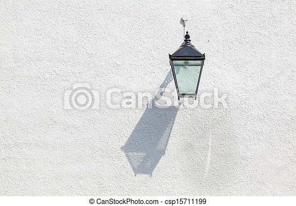 Decorative outdoor lamp with interesting cast shadow