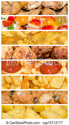 Delicious Food Collage - Royalty Free Stock Image ...