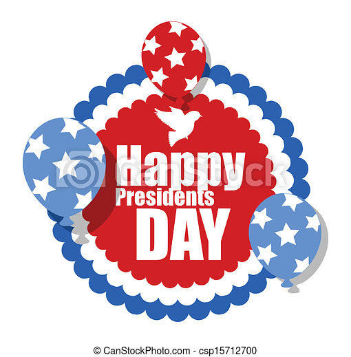 Vector Clipart of Happy Presidents Day Banner - Happy Presidents ...
