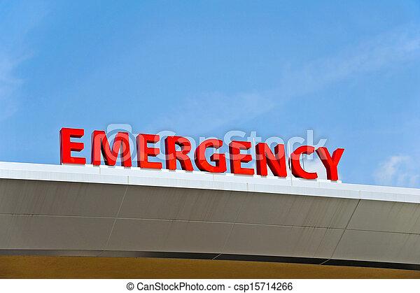Hospital Emergency Sign - csp15714266
