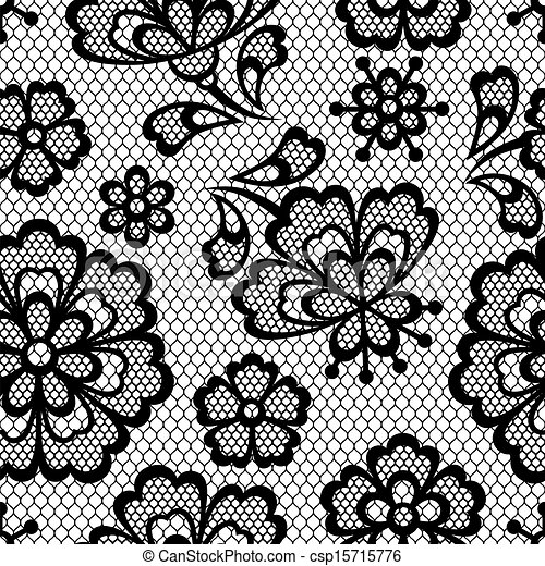 Vectors Illustration Of Old Lace Seamless Pattern Ornamental Flowers Vector Csp15715776